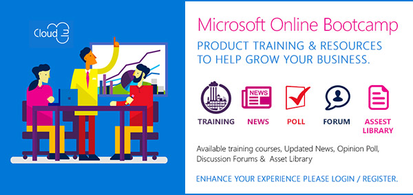 Microsoft Online Bootcamp. Product Training and Resources to Help Grow Your Business. Training. News. Poll. Forum. Asset Library. Available Training Courses, Updated News, Opinion Poll, Discussion Forums and Asset Library. Enhance Your Experience Please Login / Register.